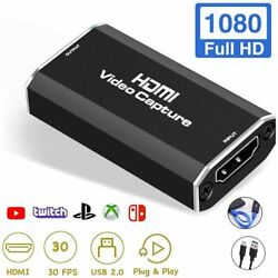 Changli Video Capture Cards Audio Video Game Capture Device HDMI to USB Full H $23.74