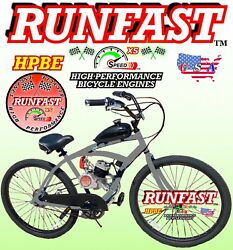 Complete Diy 2 stroke 66cc 80cc Motorized Bike Kit and Cruiser Bicycle Power $399.99