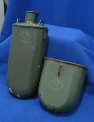 AUSTRIAN HUNGARIAN WWI 1916 ENAMELED FLASK CANTEEN CUP MESS KIT marked $77.95