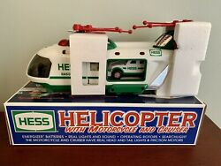 2001 Hess Toy Truck Helicopter With Motorcycle And Cruiser NEW IN BOX $20.00