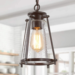 GEPOW Farmhouse Pendant Lighting for Kitchen Island Rustic Hanging Light with $68.39