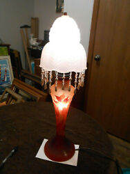 Old Galle cameo reproduction lamp and antique shade. $155.00