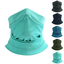 UV Protection Neck Gaiter Face Covering Scarf Breathable Balaclava For Women Men $7.99