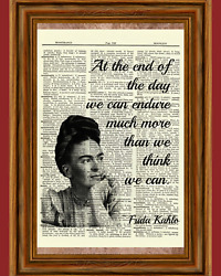Frida Kahlo Dictionary Art Print Picture Quote Collectible Gift $5.98