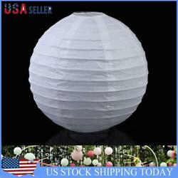 Multicolor Round Chinese Paper Lanterns Wedding Party Decoration 6quot; White $7.49