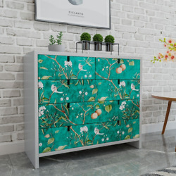 Retro Floral Wall Stickers Removable Room Wallpapers Self adhesive Contact Paper $21.55
