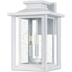 3 Light Large Outdoor Wall Lantern White Lustre Finish with Clear Seeded Glass $237.59