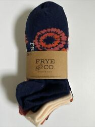 Frye and Co Womens Socks NO SHOW 5 Pairs Multi Colors Sz 5 10 New Free Ship $14.99