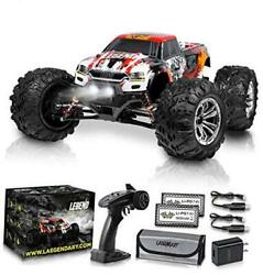 1:10 Scale Large RC Cars 48 kmh Speed Boys Remote Control Car Red Orange $240.97