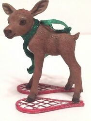 Danbury Mint The Baby Animals Ornaments Moose on Snowshoes With Tag EUC $7.94