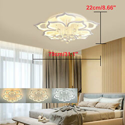 Dimmable Acrylic Modern Chandeliers Modern Flush Mounted Crystal Lighting 72cm $182.03