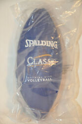 SPALDING Classic VOLLEYBALL Official Size Blue amp; White NEW In Package $13.99