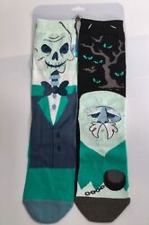 NWT Disney Parks Haunted Mansion Hitchhiking Ghosts Gus Ezra Phineas Socks Adult $16.99