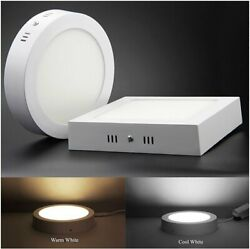 6W 24W LED Home Ktichen Ceiling Down Light Surface Mount Panel Lamp AC85 265V US