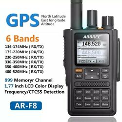 ABBREE AR F8 GPS Walkie Talkie High Power 136 520MHz Frequency CTCSS DNS Detecti $99.99