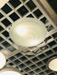 """IKEA HYBY Ceiling lamp Glass white 15"""" BRAND NEW $44.99"""