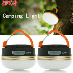 2PCS USB LED lantern rechargeable Light Camping Emergency Outdoor Hiking Lamps $16.99