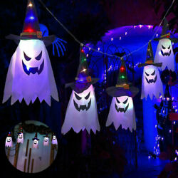 5PC Halloween LED Witch Hat String Hanging Glowing Ghost Home Garden Party Light $14.95