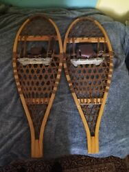 Vintage Wooden Vermont Tubbs Snowshoes. 13x34 S3. Immaculate condition $108.00