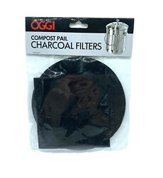 Oggi Replacement Charcoal Filter Set of 2 Compost Pail Fit Models 7320 7700 $6.49