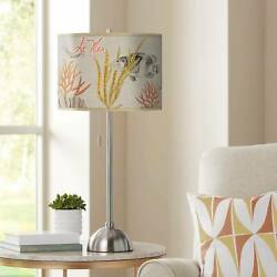 La Mer Coral Giclee Contemporary Table Lamp $99.99