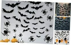 Halloween Wall Decorations DIY Halloween Party Supplies 3D 3D Spiders and Bats $15.31