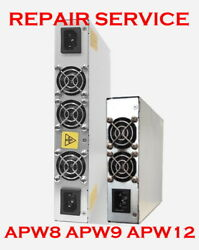 Mail in Repair Service for ANTMINER Power Supply Unit APW8 APW9 APW12 $200.00