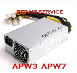 Mail in Repair Service for ANTMINER Power Supply Unit APW3 APW7 $130.00