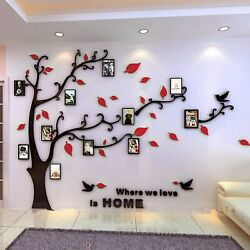 3D Picture Frame Family Tree Wall Stickers Inspirational Decorations Large $28.58