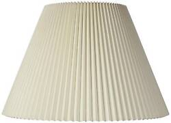 Beige Pleated Lamp Shade 10.75x22x15.5 Spider $59.99