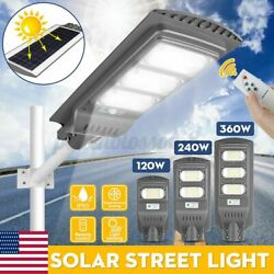 9999999LM Solar LED Street Light Commercial Outdoor IP67 Area Security Road