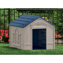 XL DOG HOUSE KENNEL FOR X LARGE 100 LBS Pet Outdoor Heavy Duty Doghouse Shelter $106.95