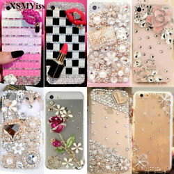 For iPhone 13 11 12 Pro Max XS XR 7 8 Luxury Rhinestone Bling Diamond Case Cover $9.99