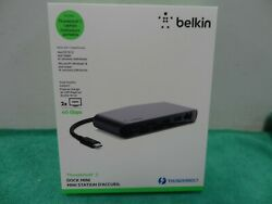 Belkin Thunderbolt 3 Dock Mini with 3 Cables for MacOS Windows USB C Laptops $89.00