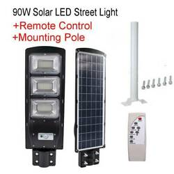 90W Commercial LED Solar Street Light Outdoor IP67 Dusk to Dawn Road LampPole