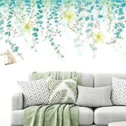 Wall Stickers Eco Friendly Green Vine Sofa TV Background Removable Large Decor $33.81