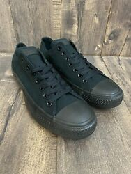 Converse Ox All Star Low Sneakers Size 11 Mens 13 Womens Triple Black M5039 $44.99