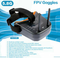 JMT Mini FPV Goggles With Mushroom Antenna Panel Antenna for Racing Drone $50.59