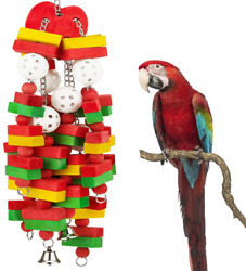 Bird Parrot Chewing Block Toys Large for Cockatoos African Grey Macaws Cockatiel $24.84