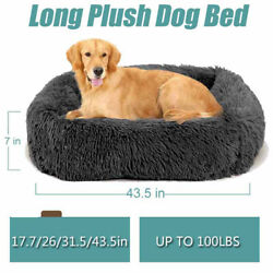 Long Plush Dog Beds For Large Dogs Pet Products Cushion Soft for Anti Anxiety $27.95