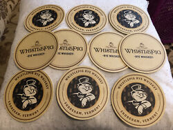 Whistle Pig Rye Coasters set of 10 commercial grade cardboard