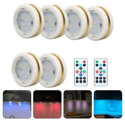 6PCS RGB LED Kitchen Under Cabinet Cupboard Light Lamp Lights Remote controlled