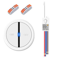 Wireless Light Switch Receiver Kit 110V Mini Remote Control Wall ON OFF for Lamp $20.99
