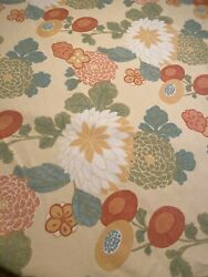 Thibaut Fabric Coco Yellow Large Scale Floral 86quot; x 56quot; 2 Yards Decorator Fabric $49.99