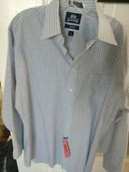 STAFFORD Mens Dress Shirt Fitted 17 right from dry cleaners 34 35 $3.50