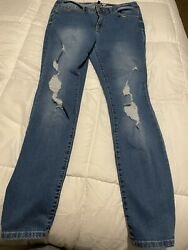 Rewash Womens High Rise Jeans Size 9 Button Fly Skinny Fit $15.00