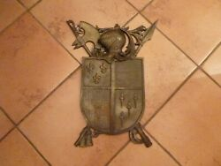 Antique Medieval Style Armorial Shield Wall Hanging Antique Nestor British Made $68.00