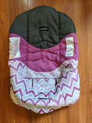 Evenflo NURTURE Infant Car Seat COVER Part Replacement Gray White Purple Girl $17.99