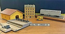 Lot of 5 Vintage Train Items Buildings Box Car on a Plaque Sign Mail Truck $29.95