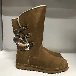 Bearpaw Jenna Suede Boot Hickory Women#x27;s Size 10 $55.99